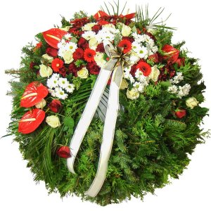 Funeral Wreath with Flamingo