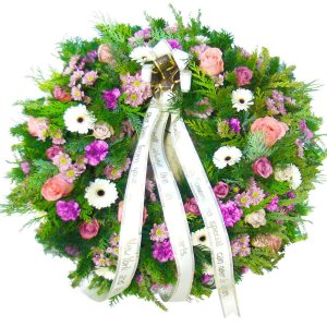 Funeral Wreath with Carnations