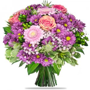 Purple Chrysanths Bouquet