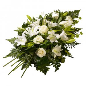 Sympathy White Lilies & Roses